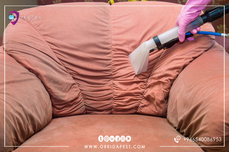 Sofa Steam Cleaning Company in Jeddah - Now you can clean and protect the light sofa from stains and dust